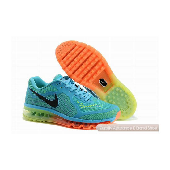 Nike Air Max 2014 KPU Mens Green Pink Sneakers