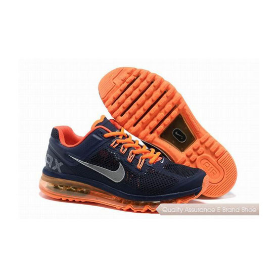 Nike Air Max 2013 Mens Dark Blue Orange Sneakers