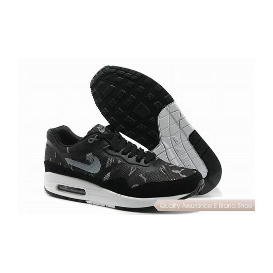 Nike Air Max 1 CMFT PRM TAPE Mens Black White Sneakers