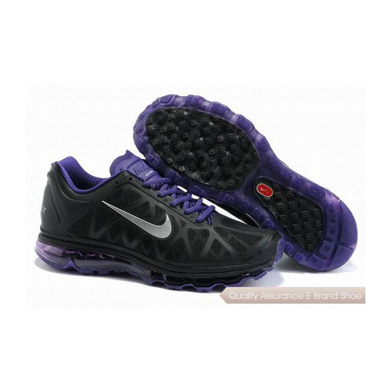 Nike Air Max 2011 Womens Black Purple Sneakers