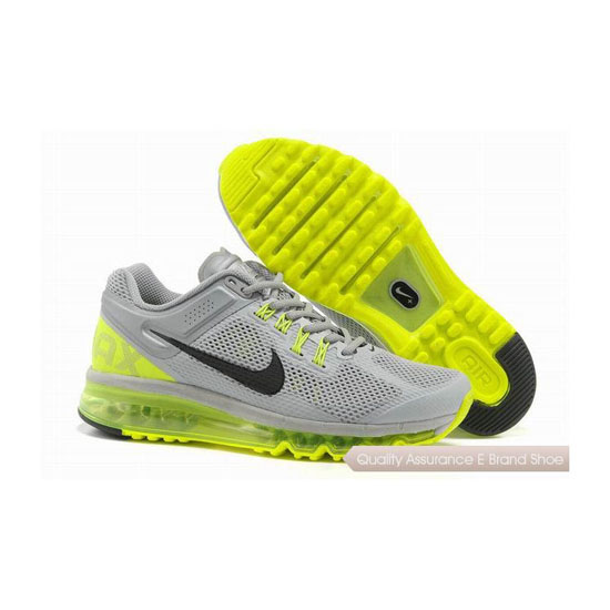 Nike Air Max 2013 Mens Green Gray Sneakers