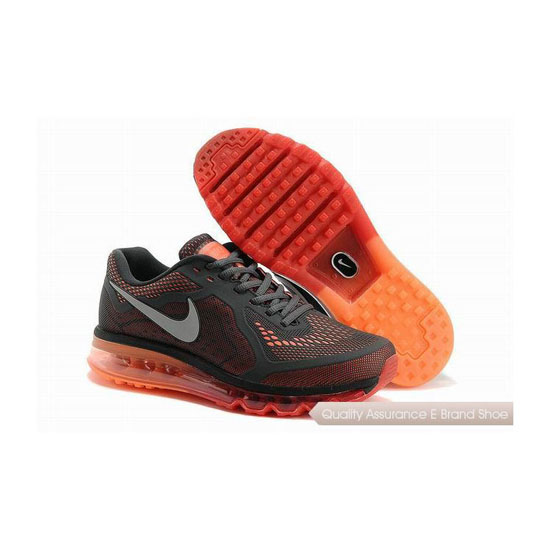 Nike Air Max 2014 KPU Mens Gray Orange Sneakers