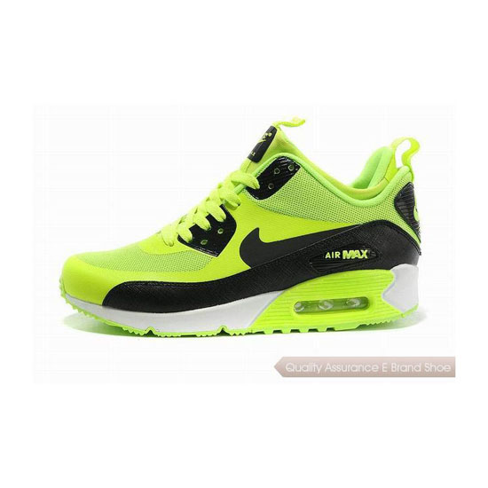 Nike Air Max 90 SNEAKERBOOT NS Womens Black Green Running Sneakers