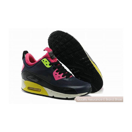 Nike Air Max 90 SNEAKERBOOT NS Womens Black Pink Running Sneakers