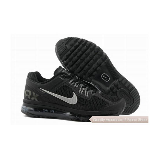 Nike Air Max 2013 Mens Black White Sneakers