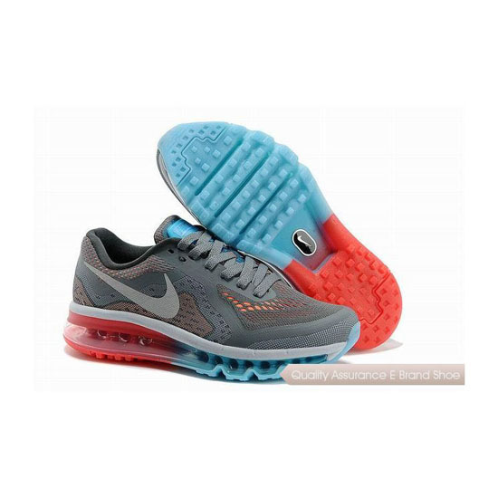 Nike Air Max 2014 Womens Gray Red Sneakers