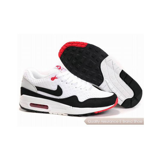 Nike Air Max 1 Unisex White Black Sneakers