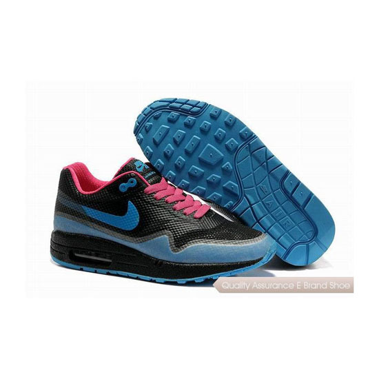 Nike Air Max 1 Hypefuse Womens Black Blue Sneakers