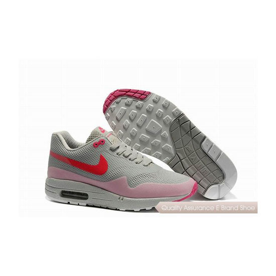 Nike Air Max 1 Hypefuse Womens Gray Pink Sneakers