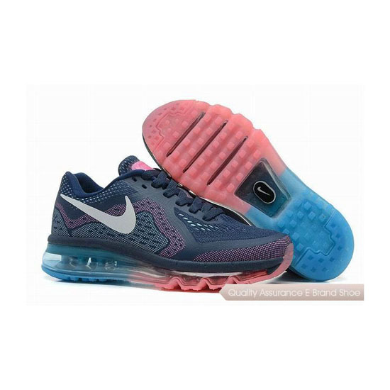 Nike Air Max 2014 Womens Blue Pink Sneakers