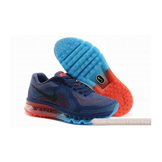 Nike Air Max 2014 Womens Blue Red Sneakers