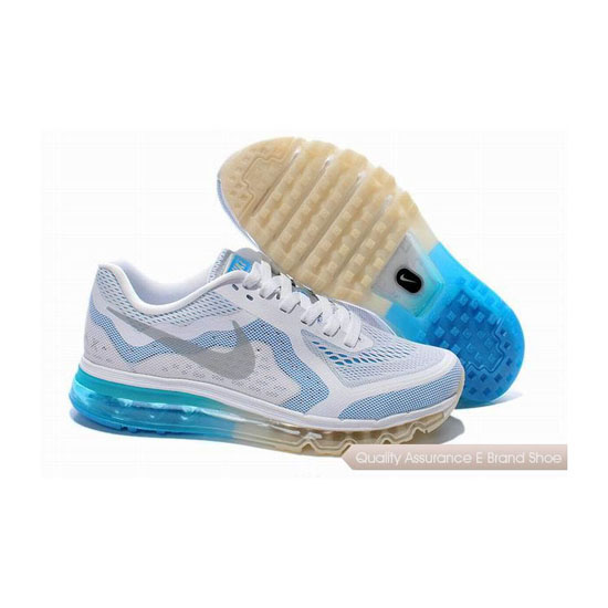 Nike Air Max 2014 Unisex White Blue Sneakers