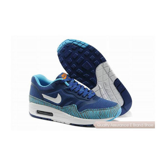 Nike Air Max 1 CMFT PRM TAPE Womens Blue White Sneakers
