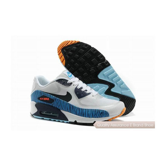 Nike Air Max 90 PREM TAPE Unisex White Blue Sneakers