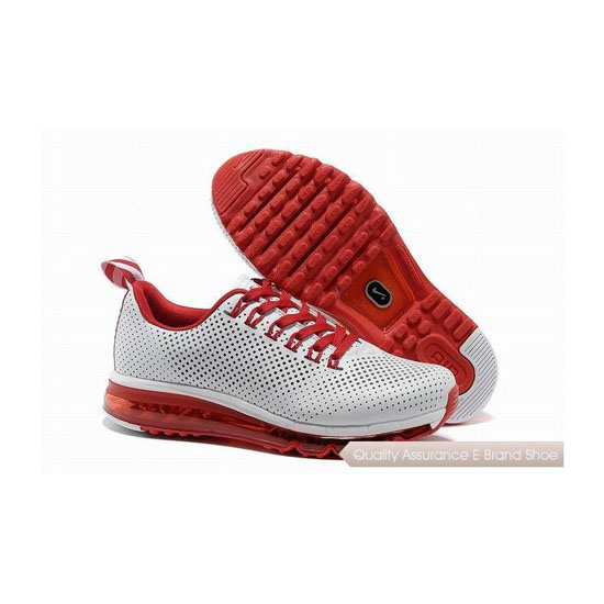 Nike Air Max 2013 II Mens White Red Track Shoes