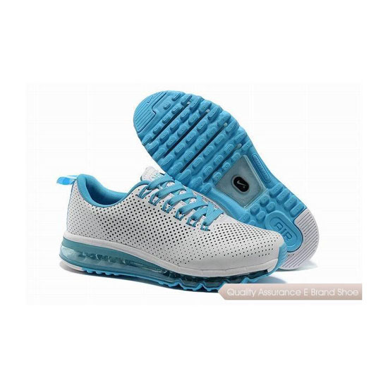 Nike Air Max 2013 II Mens White Skyblue Track Shoes