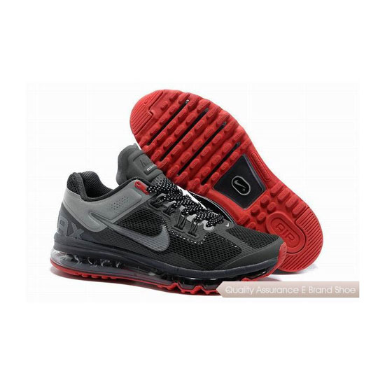 Nike Air Max 2013 Mens Gray Black Red Sneakers