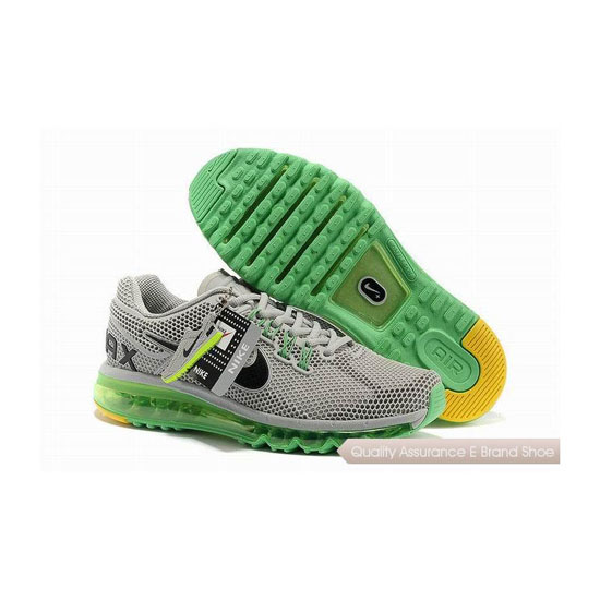 Nike Air Max 2013 Mens Gray Green Sneakers