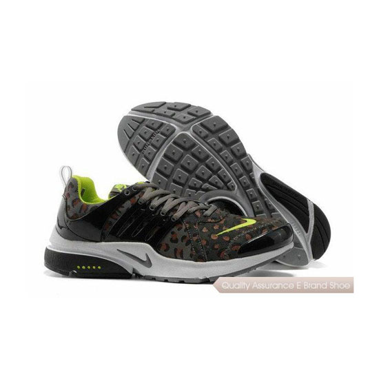 Nike Air Presto Mens Anti Fur Leopard Gray Green