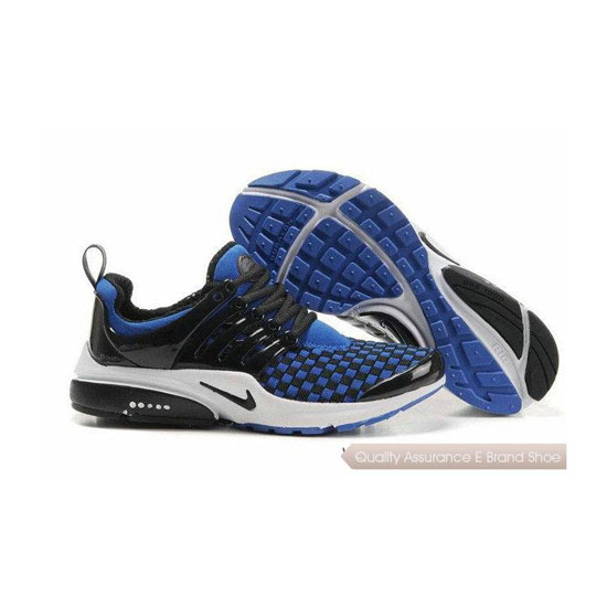 Nike Air Presto Weave Mens Sneakers Black Royal Blue