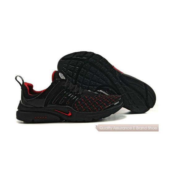 Nike Air Presto Weave Mens Sneakers Black Red