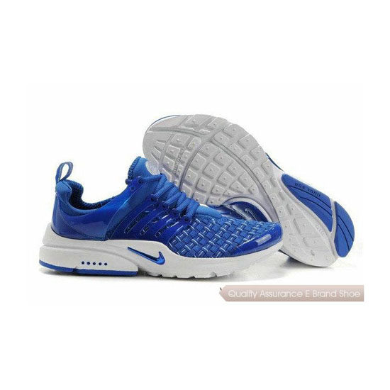 Nike Air Presto Weave Mens Sneakers Royal Blue White