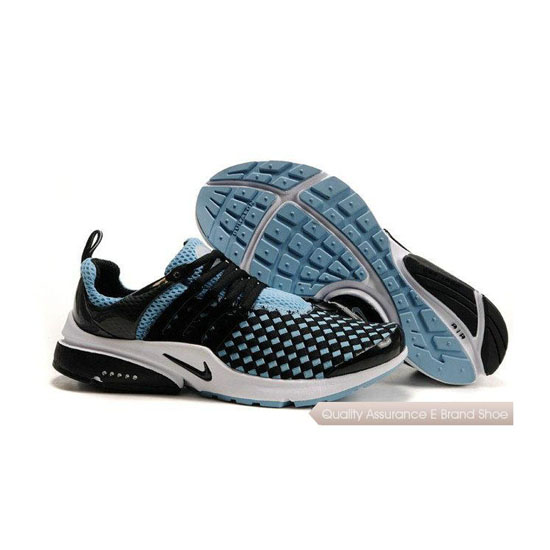 Nike Air Presto Weave Mens Sneakers Black Blue