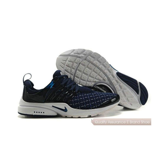 Nike Air Presto Weave Mens Sneakers Deep Blue White