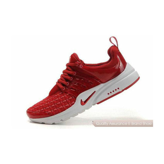 Nike Air Presto Weave Mens Sneakers Red White
