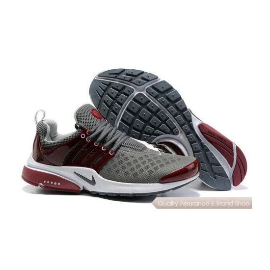 Nike Air Presto 2 Mens Carving Deep Gray Wine Red