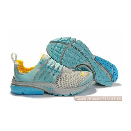 Nike Air Presto Mesh Womens Sneakers Gray Blue Yellow