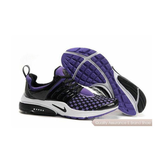 Nike Air Presto Weave Mens Sneakers Black Purple