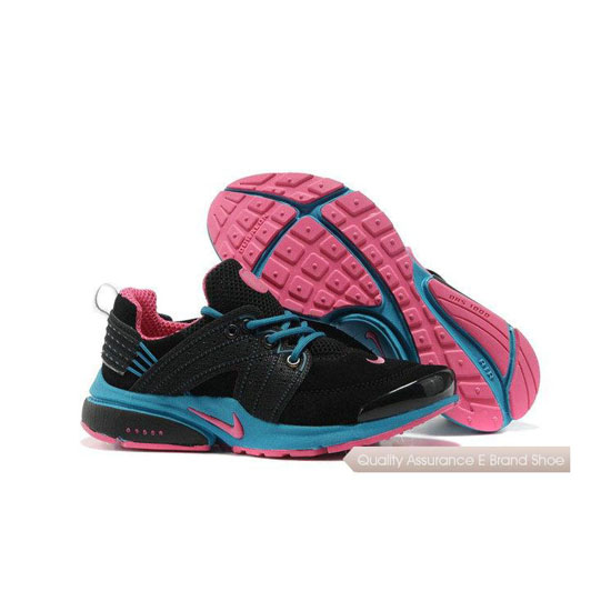 Nike Air Presto 6 Womens Anti Fur Black Blue Pink