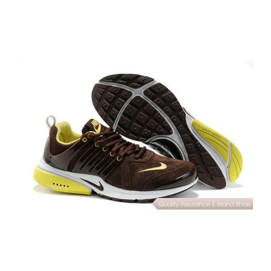 Nike Air Presto Mens Anti Fur Embroidered Brown Yellow