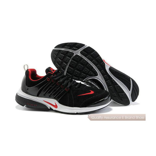 Nike Air Presto Mens Anti Fur Embroidered Black Red White