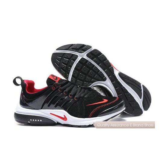 Nike Air Presto Mens Anti Fur Embroidered Black Red Line