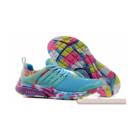 Nike Air Presto Camouflage Womens Blue Red Yellow