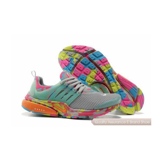 Nike Air Presto Camouflage Womens Gray Blue