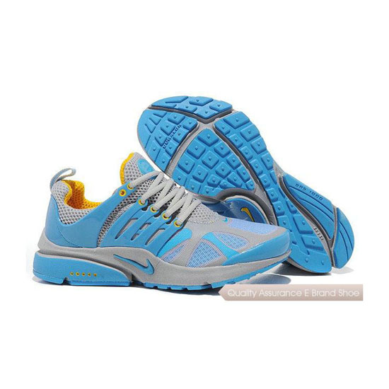 Nike Air Presto 4 Womens GT Sneakers Gray Blue Yellow