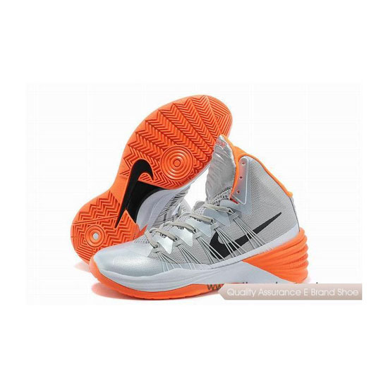 Nike Hyperdunk 2013 XDR Silver-Orange Basketball Shoes