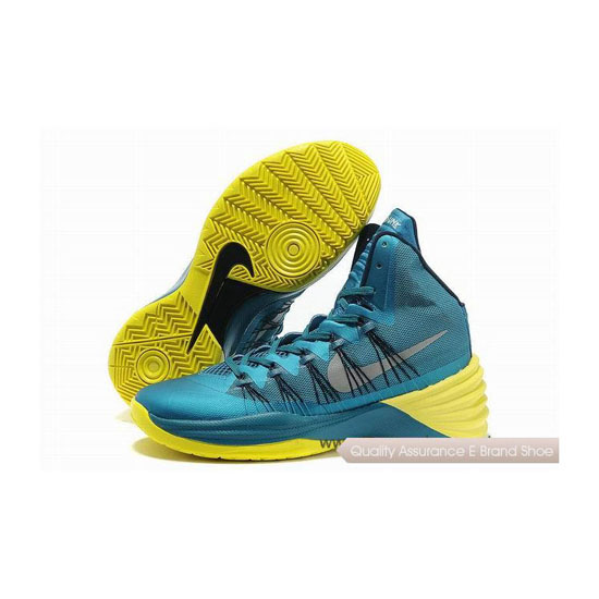 Nike Hyperdunk 2013 XDR Tropical Teal/Sonic Yellow Basketball Shoes