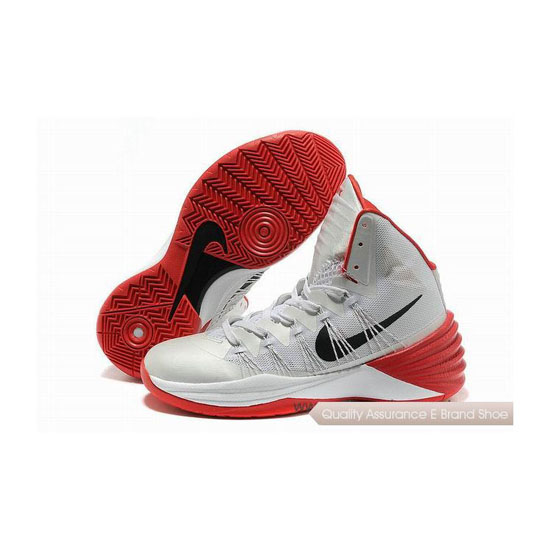 Nike Hyperdunk 2013 XDR White/Black/Red Basketball Shoes