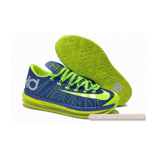 Nike KD VI Series Blue-Fluorescent Green Basketball Shoes