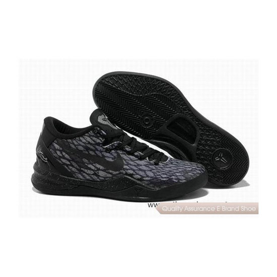 Nike Kobe 8 System Basketball Shoes Snake Black/Gray