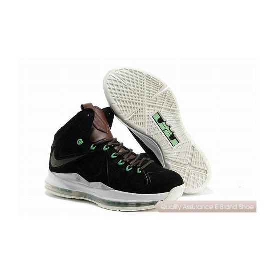 Nike LeBron 10 EXT QS Denim Black/White Basketball Shoes