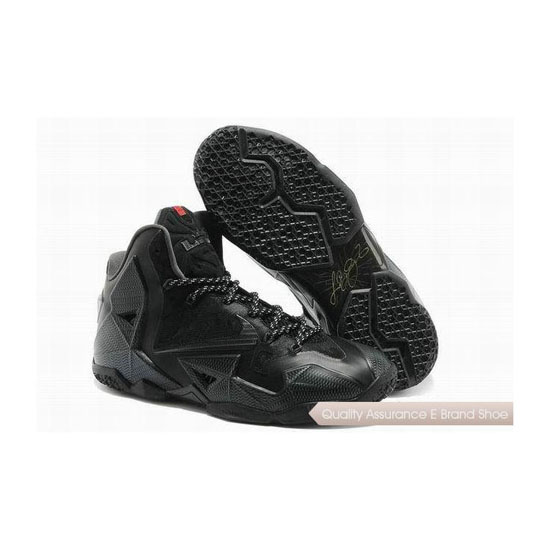 Nike LeBron 11 Black Basketball Shoes