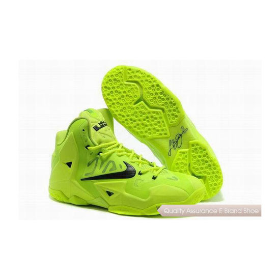 Nike Lebron 11 Fluorescent Green Basketball Shoes