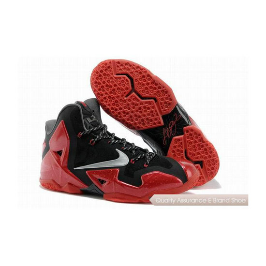 Nike LeBron 11 Miami Heat Black/Red Basketball Shoes