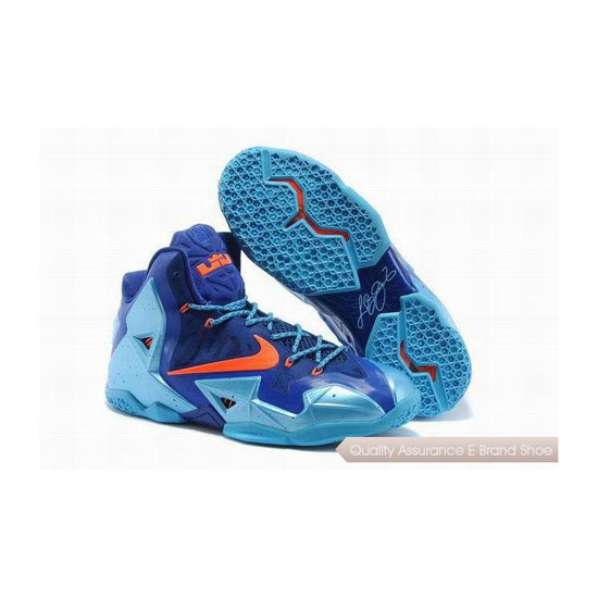 Nike LeBron 11 Team Orange/Blue Basketball Shoes