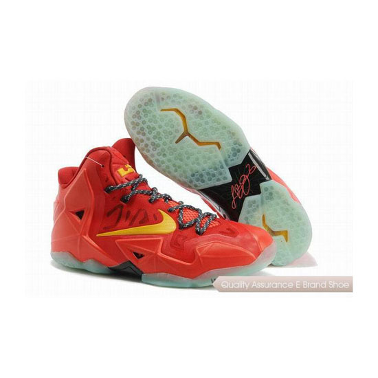 Nike LeBron 11 Team Orange/Tour Yellow Basketball Shoes